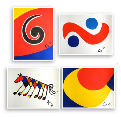 Alexander Calder, 'Skyswirl, Skybird, Beastie and Convection (set of 4)', 1975
