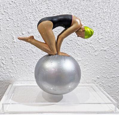 Carole A. Feuerman, 'MINIATURE QUAN (GREEN CAP)', 2014