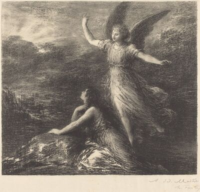 """Henri Fantin-Latour, 'Debut from """"Paradise and the Peri"""" (2nd plate)', 1894"""
