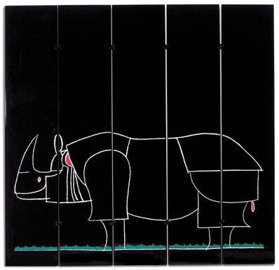 François-Xavier Lalanne, 'A 'Rhinocéros' Five-Panel Screen', circa 1971-1976