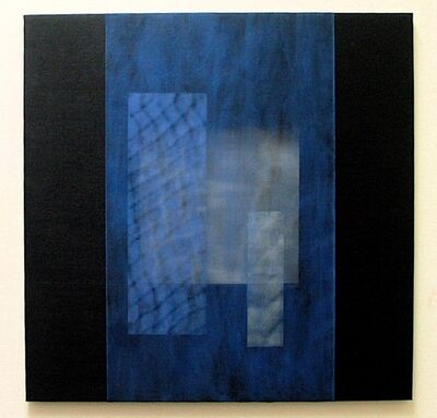 Joan Konkel, 'Black and Blue with Rectangle', 2002