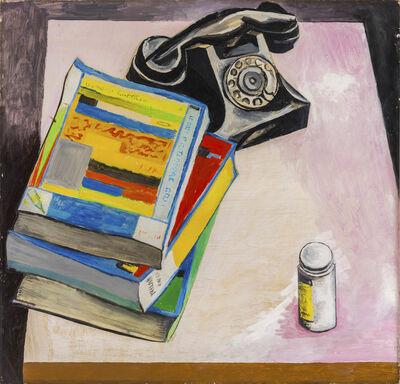 Renato Guttuso, 'Natura morta con telefono e oggetti su un tavolo', 1967
