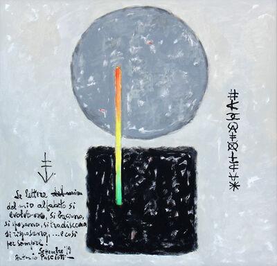 Antonio Pasciuti, 'Le lettere del mio alfabeto si evolvono, si baciano, si sposano, si tradiscono, si risposano,...e così per sempre!', 2019