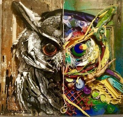 Bordalo II, 'Half Owl', 2017