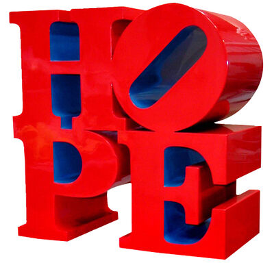 Robert Indiana, 'HOPE (red/ blue)', 2009