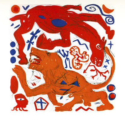 A.R. Penck, 'Sozialistische Jagd', 1989