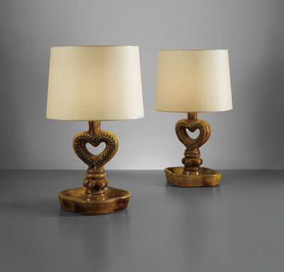 Georges Jouve, 'Pair of table lamps', circa 1950