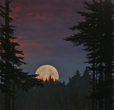David Vickery, 'Moonrise with Pink'