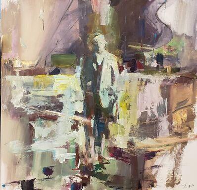 Patrick Lee (b. 1972), 'Man by a River', 2021