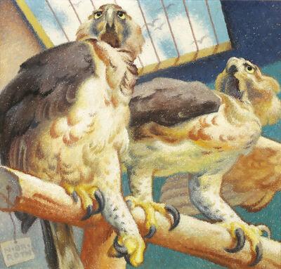 Norbertine Bresslern-Roth, 'Couple of raptors', 1954