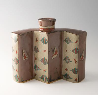Tomoo Hamada, 'Bottle, kaki glaze with akae decoration', 2008