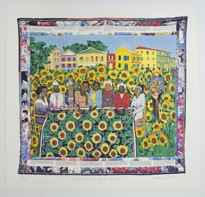 Faith Ringgold, 'Sunflower Quilting Bee at Arles', 1997