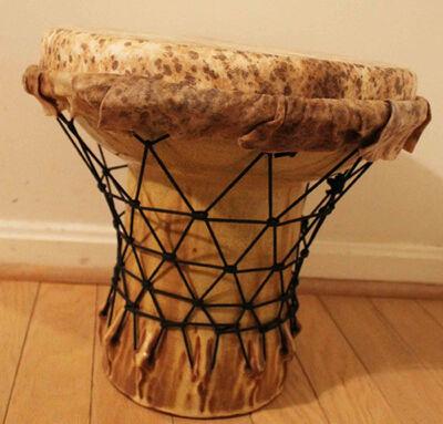Hadrian Mendoza, 'Djembe #3 (Functional Drum)'