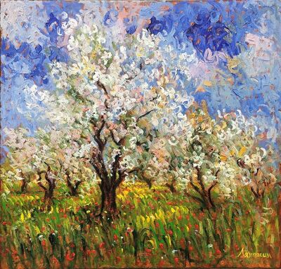 Samir Sammoun, 'Almond Trees in Bloom', 2015