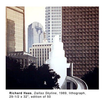 Richard Haas, 'Dallas Skyline', 1989