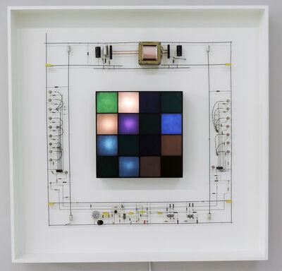 Peter Vogel, 'Blaugrüne Farbkomination', 1987