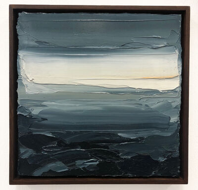 Jake Aikman, ' Clearing (Atlantic), oil in canvas. 34cm x34cm', 2019