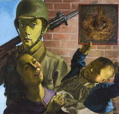 Honoré Sharrer, 'Soldier, Wife, and Child'