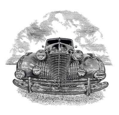 Arthur Borisov, 'An American Legend. Cadillac Series 75, 1940', 2019