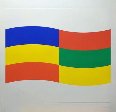 Charles Hinman, 'Blue, Green and Yellow Flag', 1970