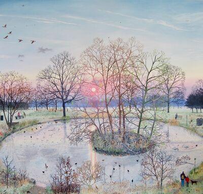 Emma Haworth, 'Sunset Over Frozen Pond', 2017