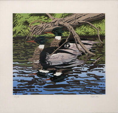 Neil G. Welliver, 'Two Merganzers ', 1992