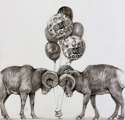 Adonna Khare, 'Rams and Balloons', 2021