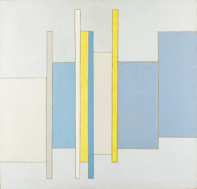 Toti Scialoja, 'Celeste e giallo', 1974