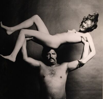 Guy Bourdin, 'Nude & Strongman in Joy', ca. 1972