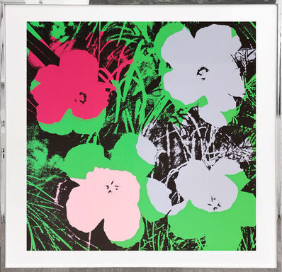 Sunday B. Morning, 'Flowers - light blue, rosa, pink, green', 1970