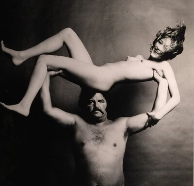 Guy Bourdin, 'Strongman and Nude', 1972