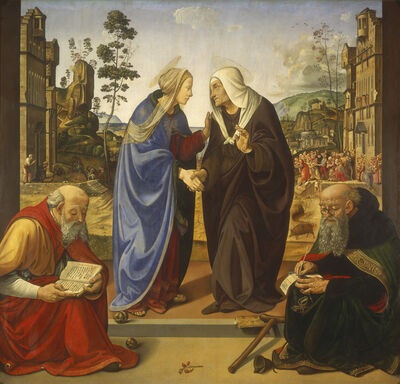 Piero di Cosimo, 'The Visitation with Saint Nicholas and Saint Anthony Abbot', ca. 1490