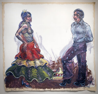 Luis Jimenez, 'Fiesta Dancers (Jarabe) - Working Drawing #2', 1989