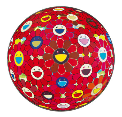 Takashi Murakami, 'Flower Ball (3D) Red Cliff', 2013
