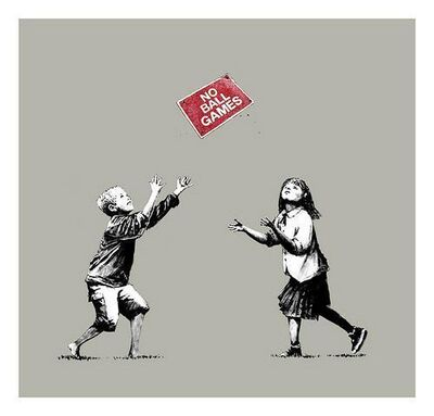 Banksy, 'No Ball Games (Grey)', 2009