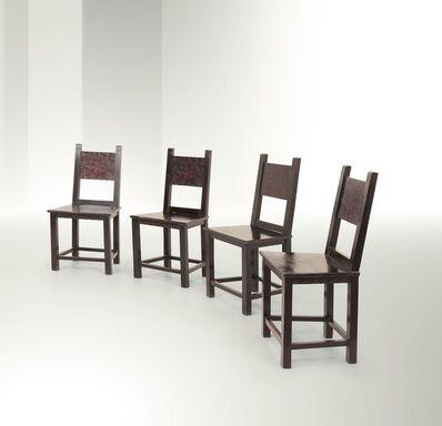 Vittorio Zecchin, 'four armchairs, Italy', 1923