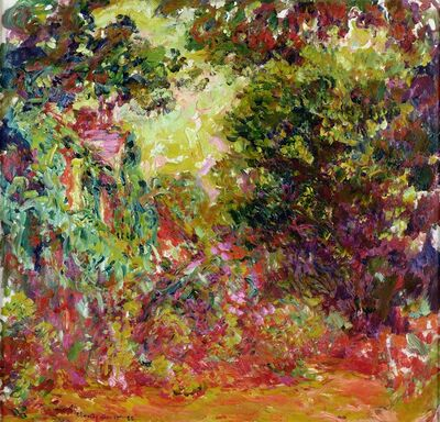 Claude Monet, 'The Artist's House Seen from the Rose Garden,', 1922-1924