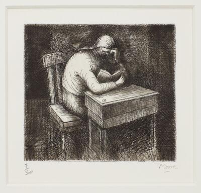 Henry Moore, 'Girl Doing Homework V', 1974