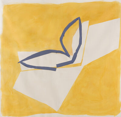 Sandra Blow, 'Yellow and Blue', 1985
