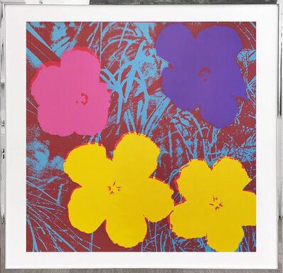 Sunday B. Morning, 'Flowers - yellow, rosa, blue, dark red', 1970
