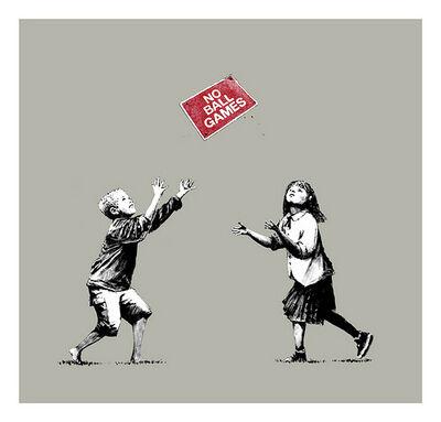 Banksy, 'No Ball Games Grey', 2009