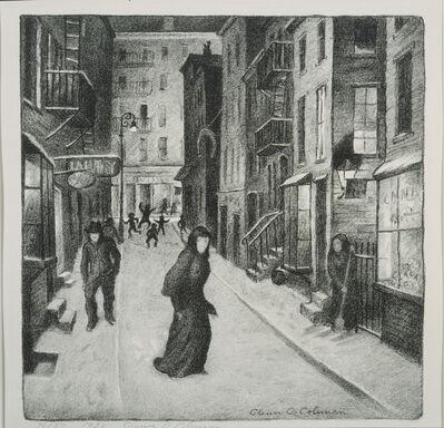 Glenn O. Coleman, 'Minetta Lane', 1928