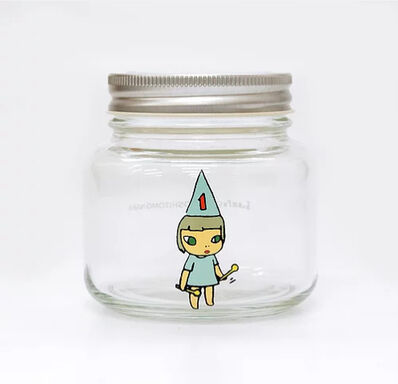 Yoshitomo Nara, 'Girl Storage Jar (320ml, Blue)', ca. 2017