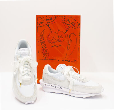 Sacai, 'KAWS Customized Nike x Sacai White LDWaffle Sneaker, Spring 2020', 2020