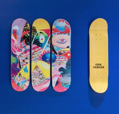 Erik Parker, 'ROME PAYS OFF - Skateboard Set', 2018