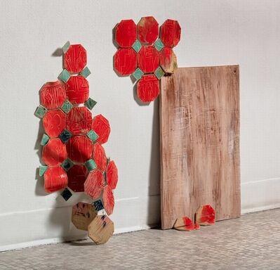 Rachel Hubbard Kline, 'Crimson Fabricated Americana', 2019