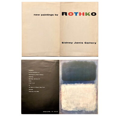 "Mark Rothko, '""New Paintings by ROTHKO"", Sidney Janis Gallery NYC, Exhibition Invitation/Mailer', 1958"