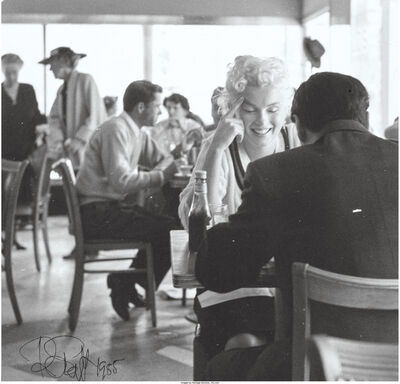 Roy Schatt, 'Marilyn Monroe at Lunch (two works)', 1958