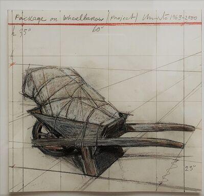 "Christo, '""package on wheelbarow""', 1963-2000"