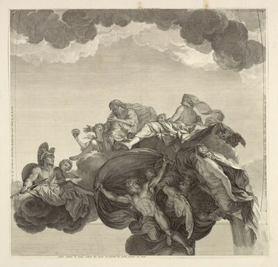 Charles Le Brun, '[Hercules presented to Hebe by Jupiter, in the company of Juno and other immortals]', 1713-1719